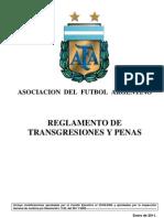Reglamento de  Transgresiones y Penas AFA