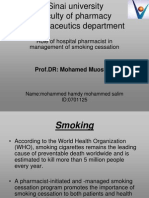 Role of Hospital Pharmacist in Managment Smoking Cessation
