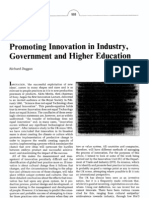 Promoting innovation in industry, government and higher education