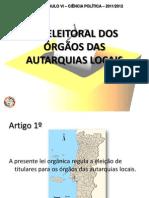 CP - Lei orgânica das eleições autárquicas