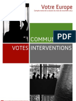 Bilan de la session plénière de novembre 2011