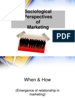 Sociological Perspectives of marketing