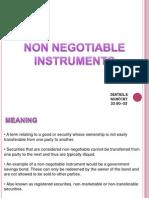 Non Negotialbe Intrument
