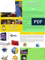 Brochure for Summer Computer Camp for Kids in English