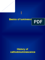Basics of Luminescence & Cathodeluminance