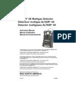 Manual de Detector de Gases