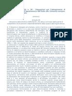 Legge 1 marzo 2002, n. 39 – Attuazione direttiva 2000/43/CE, parità di trattamento fra persone indipendentemente da razza e origine etnica