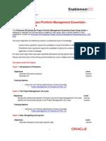 Primavera EPPM Exam Study Guide