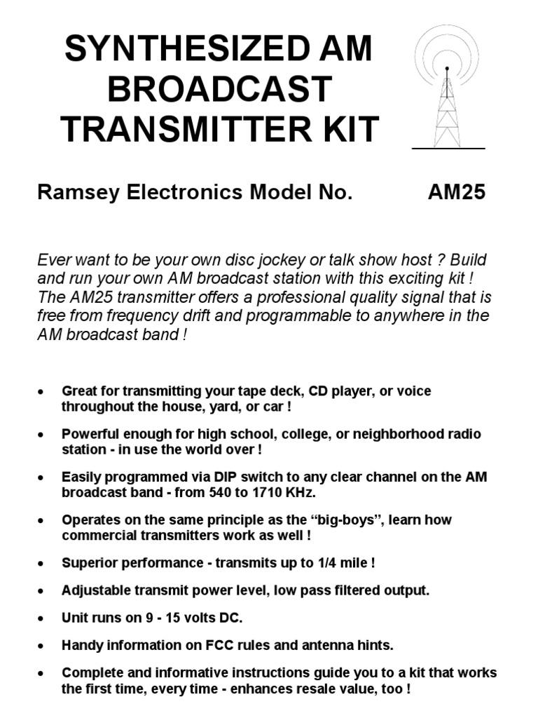 Am 25 Amplifier Inductor Lowlevel Transmitter Block Diagram