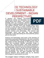 Science Technology and Sustainable Development - Indian Perspectives