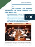 18-11-11 Actividad Municipal_junta de Gobierno Local
