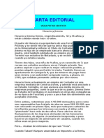 Carta Editorial - Horacio y Jimena