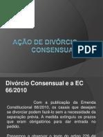 Ação de Divórcio Consensual