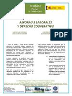 REFORMAS LABORALES Y DERECHO COOPERATIVO - LABOUR LAW REFORMS AND CO-OPERATIVE LAW - LAN ERREFORMAK ETA KOOPERATIBEN ZUZENBIDEA