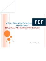 Financial and Association Details