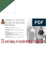 Invito Celebrazione 25° Anniversario Mario Tornatora