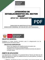 NTS N° 021 – MINSA DGSP V.03 CATEGORÍAS 19SEPT2011