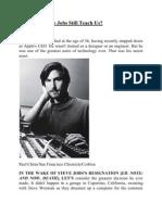 What Can Steve Jobs Still Teach Us