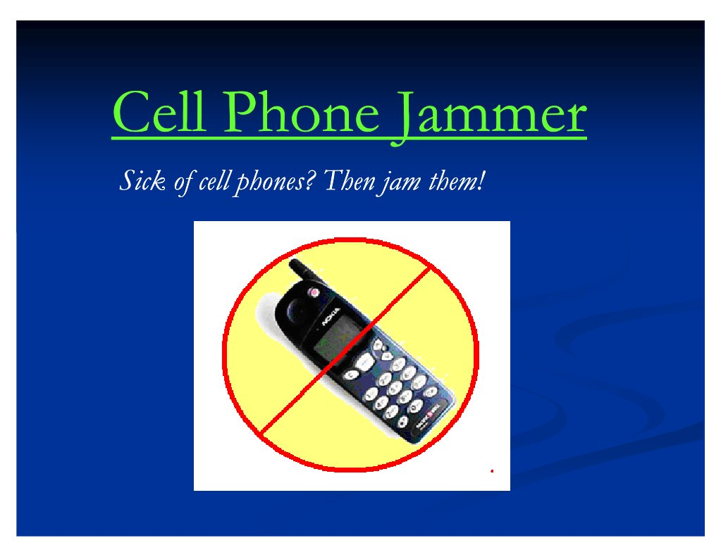 Cell Phone Jammers Cellular Network Radio Gsm Jammer Circuit