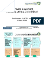Improving Equipment Reliability using a CMMS-EAM-pr