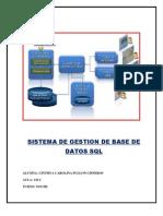 SISTEMA DE GESTION DE BASE DE DATOS SQL
