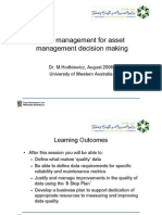 Data management for asset management decision making