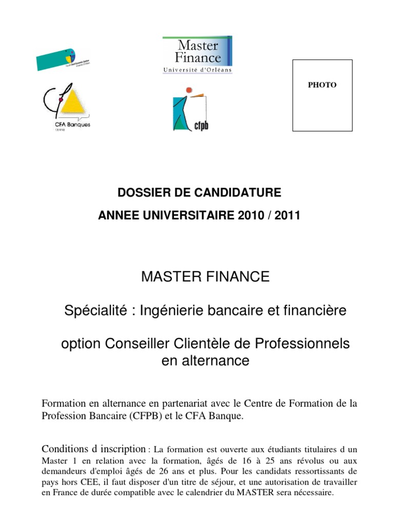 Dossier Candidature Ccpro French Language University
