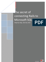 The Secret of Connecting Rails to Microsoft SQL Server