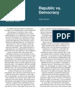 Republic vs Democracy