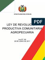 LEY 144-Ley de Revolucion Productiva Com Unit Aria Agropecuaria