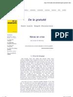J L Sagot Duvauroux - De la gratuité