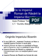 0 de La Imperiul Roman de Rasarit La Imperiul Bizantin