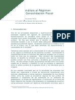 Analisis Al Regimen de Consolidacion Fiscal