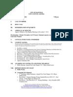 Hastings City Council Agenda - 11.21.11