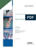 Arizona's Bioscience Roadmap - Executive Summary - 2002-12