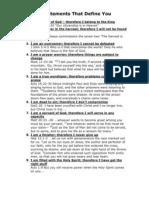 9 Statements That Define You