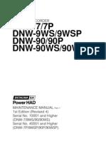 Betacam Sx DNW-7P Maintenance Manual