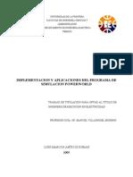 Implementacion y Aplicaciones Del Programa de Simulacion Power World