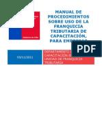Manual de Procedimientos Empresas Franquicia Tri but Aria