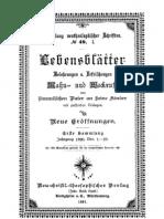 JESUS in der Neu Salems Bewegung - No.49a-d Lebensblaetter 1891