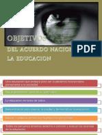 Objetivos Del Acuerdo Nacional Para La Educacion