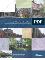 Heritage Conservation Districts in Toronto Draft Policies