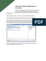 Crear Un Instal Ad Or Para Windows Application en Visual Studio Paso a Paso