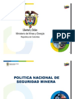 Política Nacional Seguridad Minera, vers 16 nov 2011_MIN_MINAS