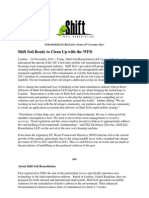 PRESS RELEASE- Shift Soil Ready to Clean Up With the WFD