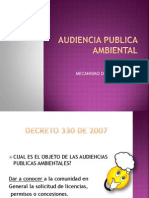 AUDIENCIA PUBLICA AMBIENTAL