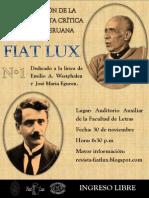 Panel de la Pesentación de la Revista FIAT LUX