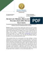 Merrill Reports 2011 Municipal Election Turnout