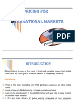 Pricing for International Marketing