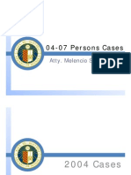 Persons and Family Relations Cases Slides